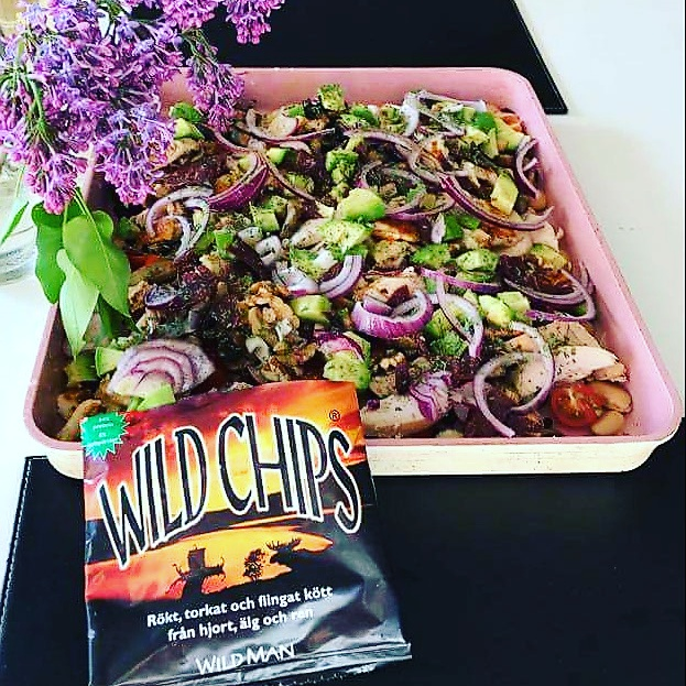 Antonias Wild Chips sallad.