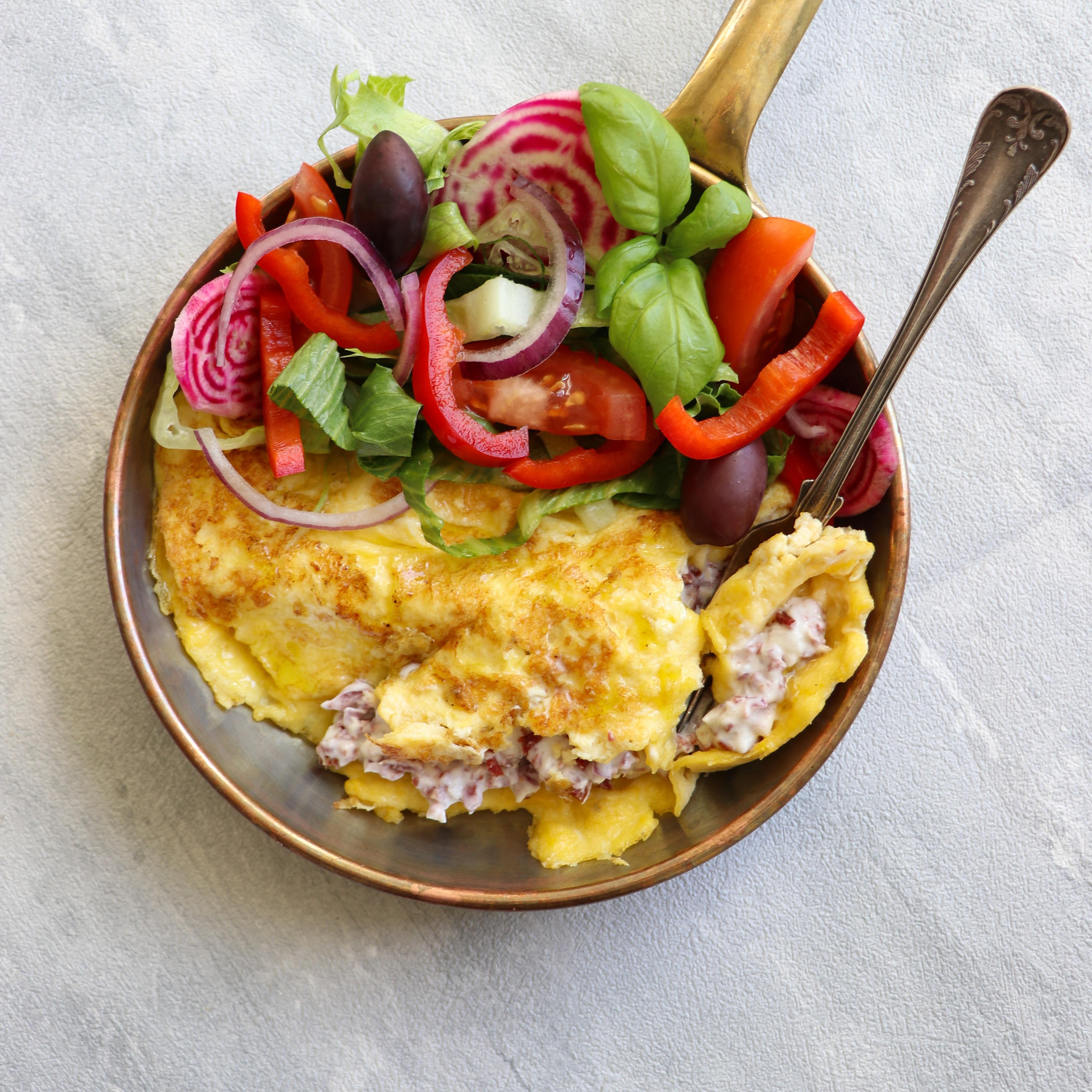 Fylld omelett med Wild Chips Röra