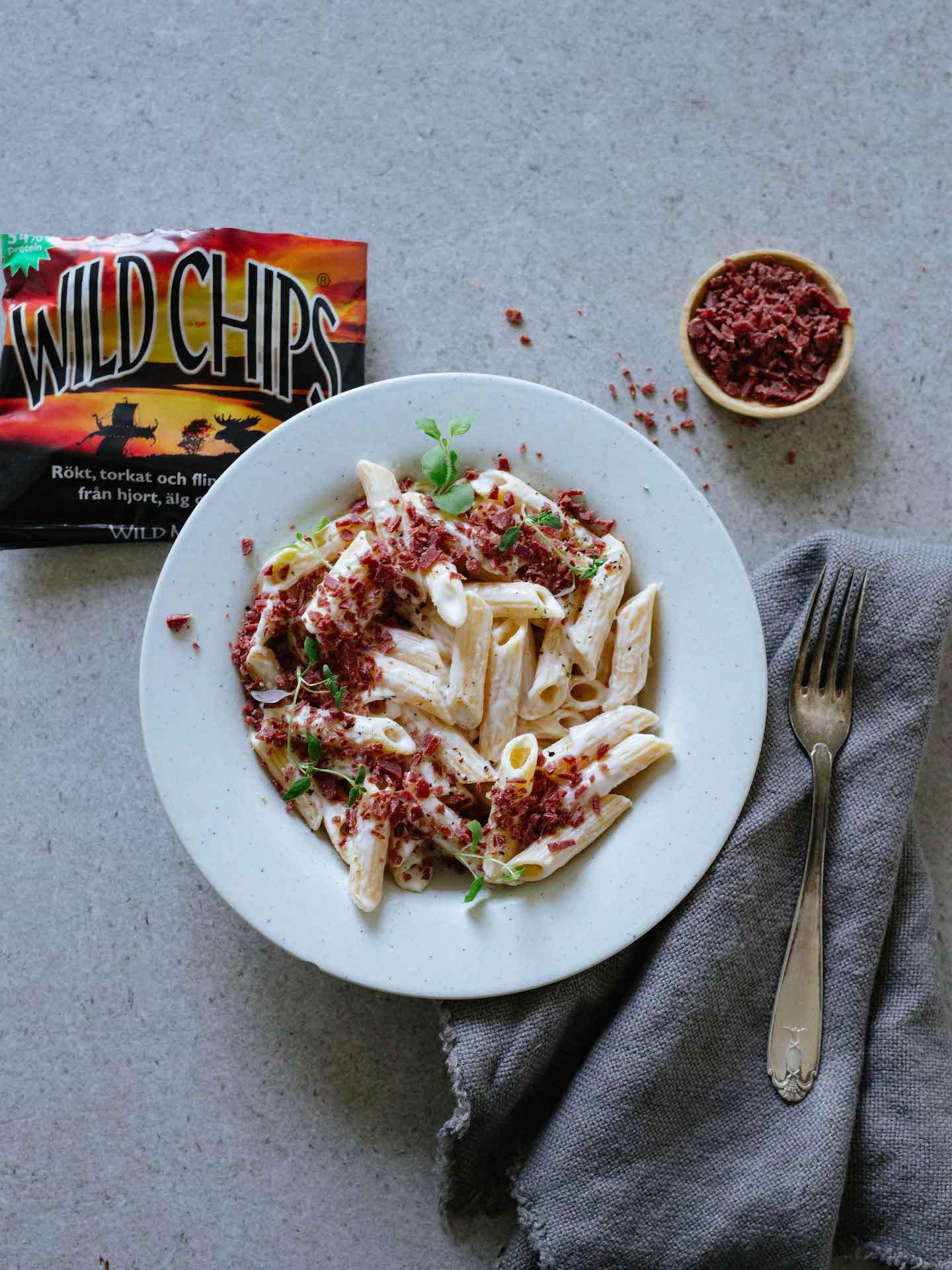 Pasta med Wild Chips Strössel