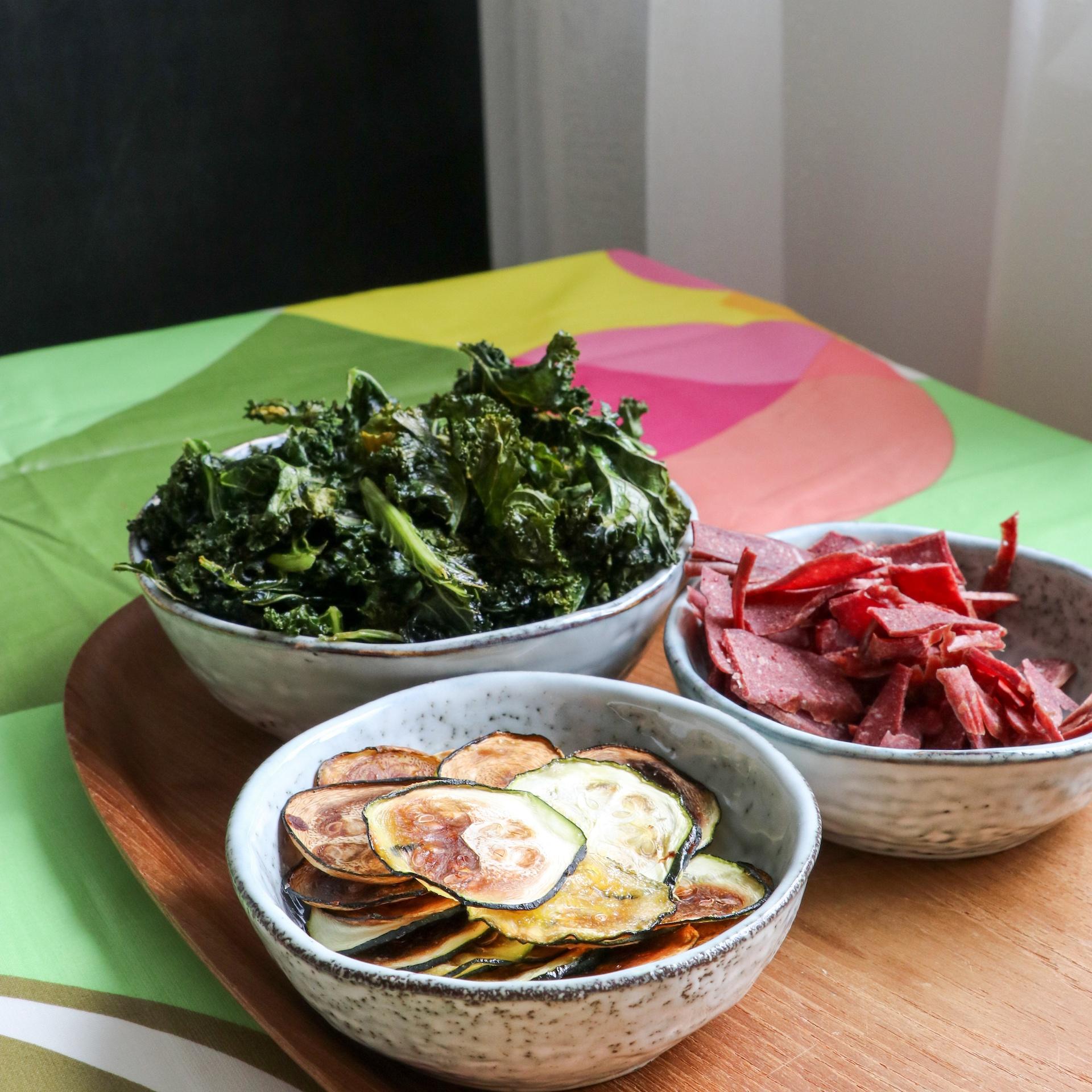 Wild Chips, grönkålscheps och zucchinichips 2017 05 05